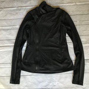 LULULEMON Bhakti Yoga Jacket Luon Pique Black 10